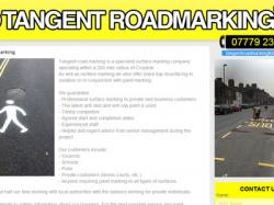 Tangent-road-marking