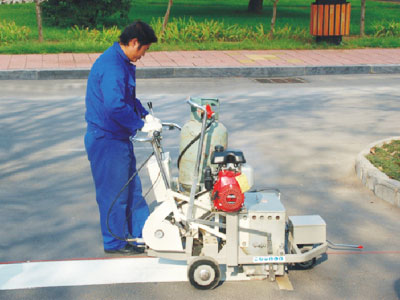 AC-SPTP Self-propelled Thermoplastic Screeding Pedestrian Road Marking Machine